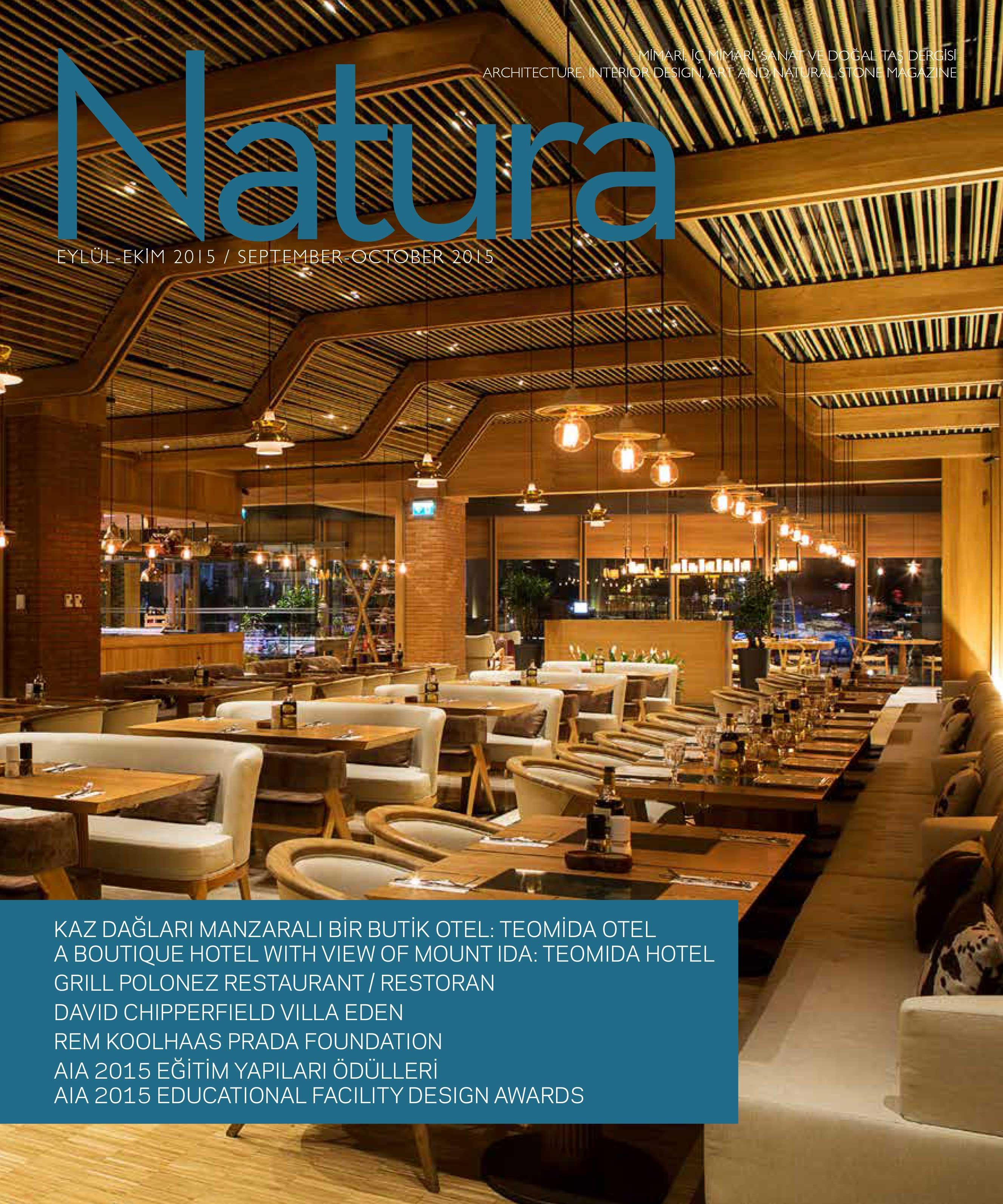 Natura Dergisi - Eylül 2015